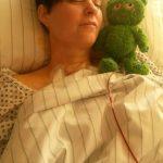 Nach der Schilddrüsen-OP erstmal ziemlich platt und viel geschlafen.